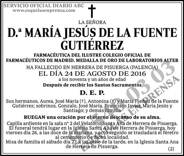 María Jesús de la Fuente Gutiérrez